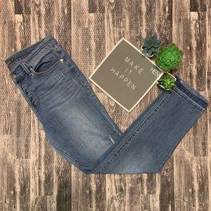 Level 99 Morgan Raw Hem Distressed Cropped Jeans